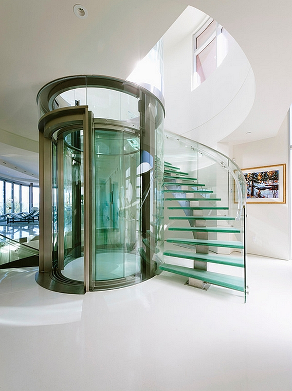Sizzling-glass-elevator-and-staircase