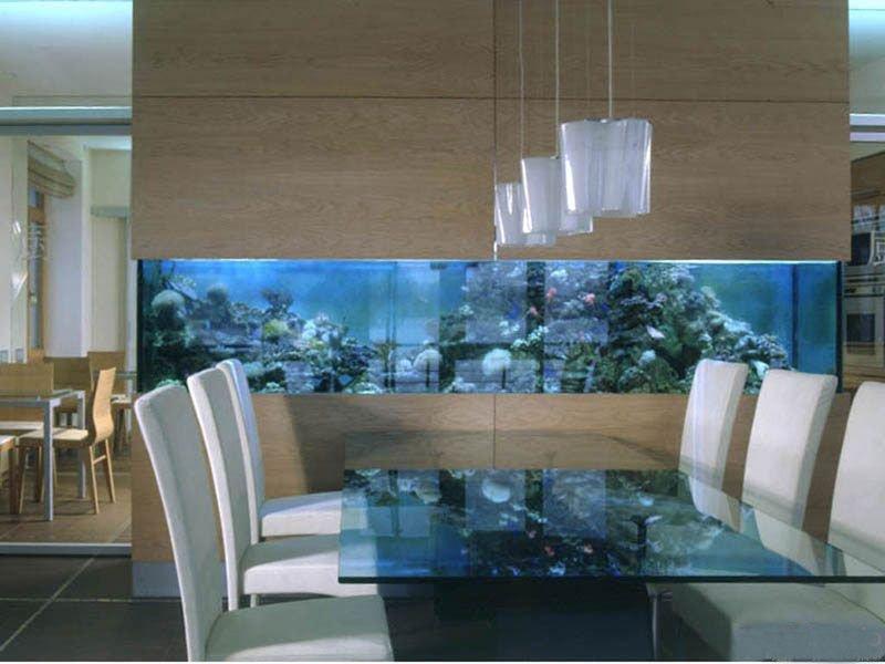 Дизайн интерьера с аквариумом
