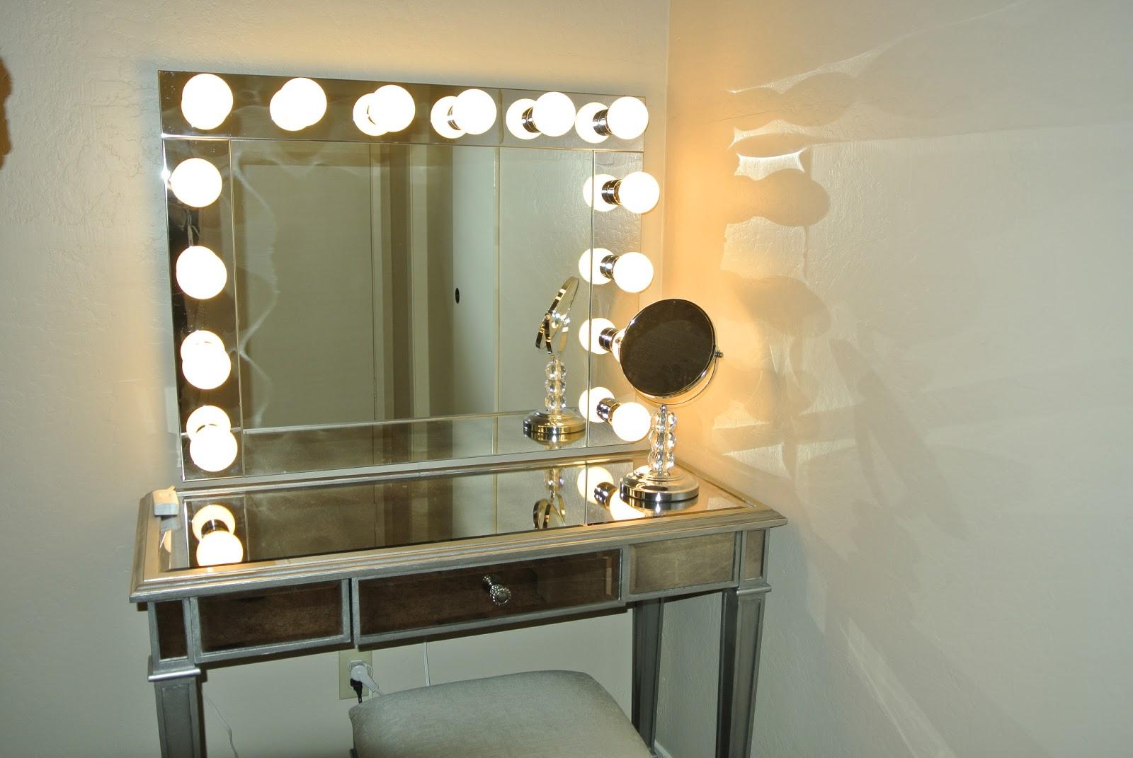 Гримерное зеркало с подсветкой своими руками 5