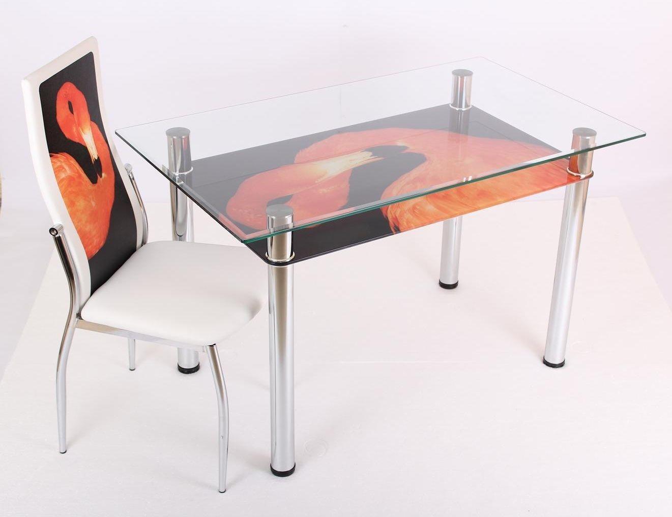 Обеденный стол 3.2 дп 26 мебель из стекла.