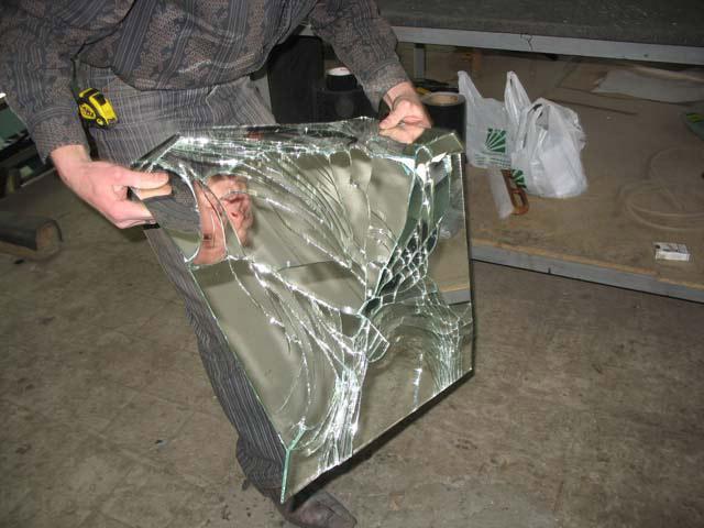 противоосколочная пленка для зеркала
