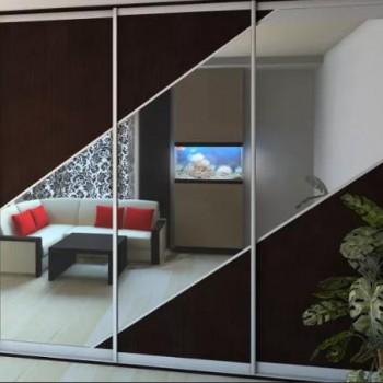 Зеркало матовое узорчатое в интерьере спальни