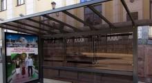 Замена стекла. Автобусная остановка