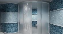 Гнутое стекло в ванной