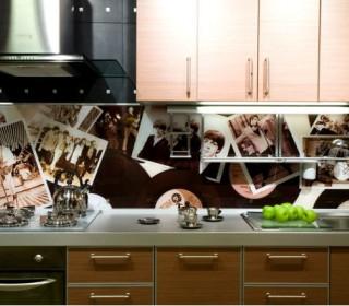 Монтаж стеклянного фартука на кухне