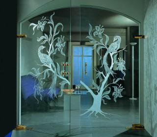 Нанесение рисунка на стекло и зеркало