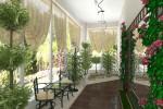 Установка стекла в зимнем саду
