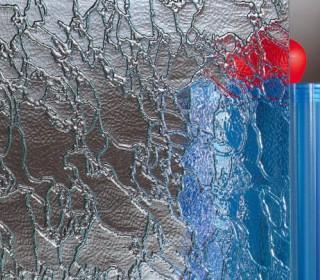 Узорчатое рифленое стекло